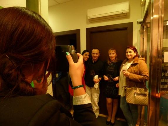 Andrea hizo posible que cada asistente se llevase una foto kodak de recuerdo.