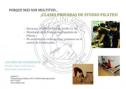 CLASES PRIVADAS DE STUDIO PILATES EN CLINI-K S.V.