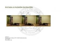 PATADA A FLEXIÓN EN PILATES