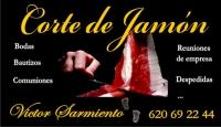 CORTE DE JAMÓN POR VICTOR SARMIENTO EN LAS FINALES