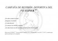 CAMPAÑA REVISIÓN DEL DEPORTISTA EN CLINI-K S.V.