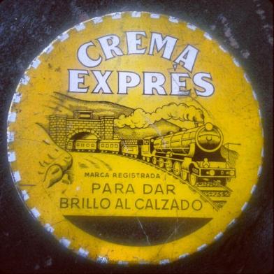 Lata crema de zapatos 5,80 pesetas