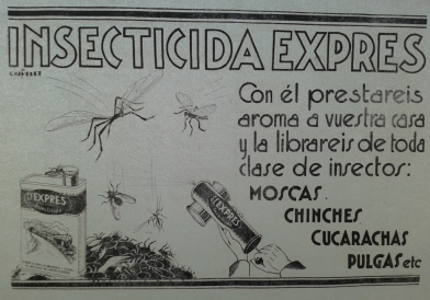 Cartel antiguo cera expres