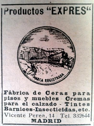 Anuncio de Prductos Expres en el anuario general de 1949