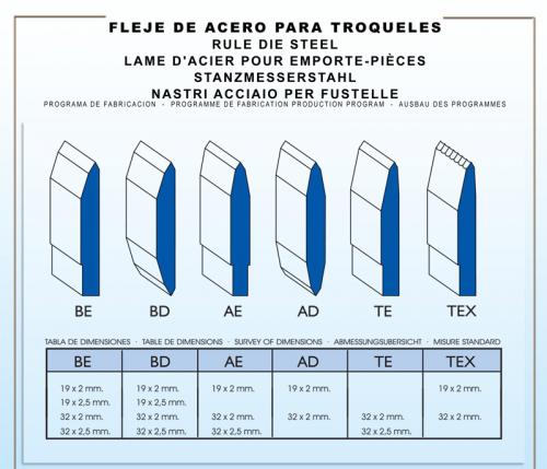 FLEJE DE ACERO PARA FABRICAR TROQUELES