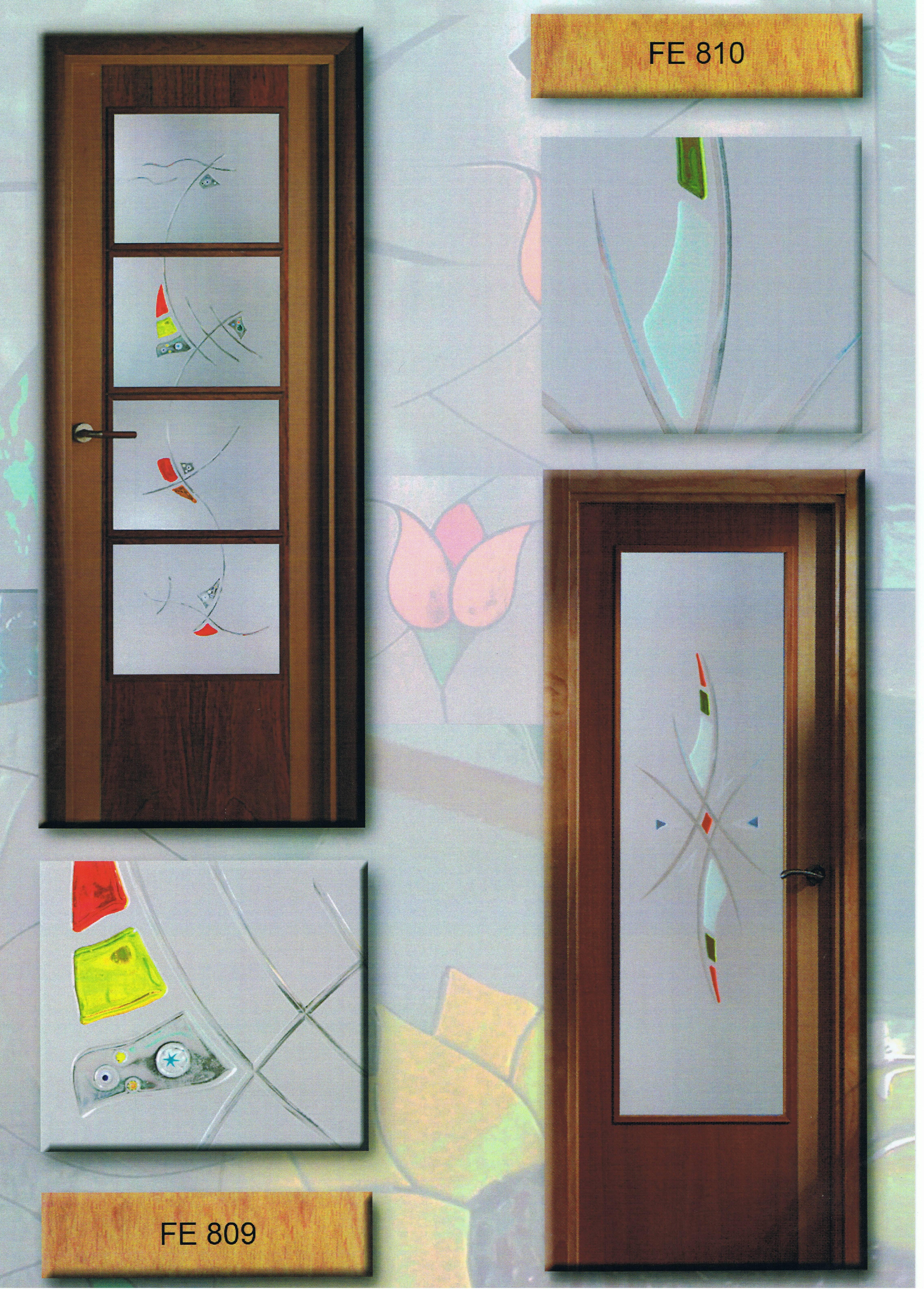 Estrias y fusing for Cristales para puertas de madera