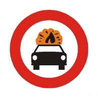 Entrada prohibida a vehículo de mercancias...