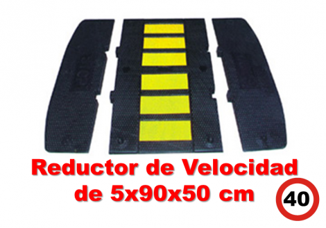 Reductor de velocidad 5x90x50 cm.
