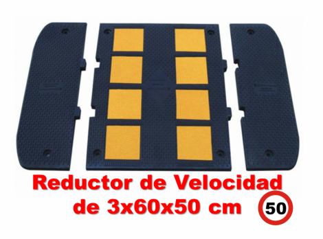 Reductor de velocidad 3x60x50 cm.