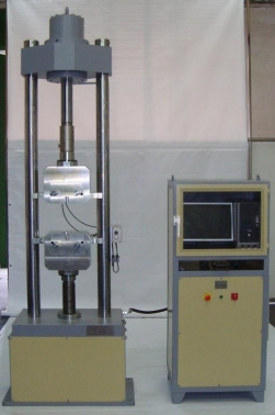 Máquina para ensayos de tracción de aceros de 70 Tn.