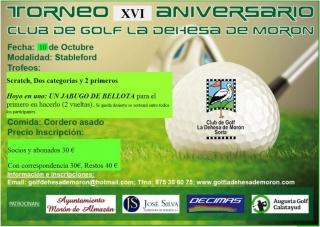 Torneo Golf XVI Aniversario La Dehesa (Soria)