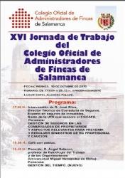 Ponencia de José Silva en la XVI Jornada de Trabajo del Colegio Oficial de Administradores de Fincas de Salamanca