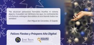 José Silva presenta su felicitación navideña