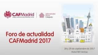 Patrocinamos el Foro de Actualidad CAFMadrid 2017