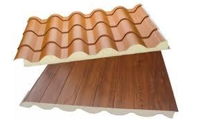 Panel teja rojo+madera