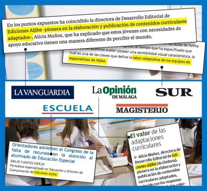 Ediciones Aljibe, una respuesta desde la integración para las Necesidades Específicas de Apoyo Educativo