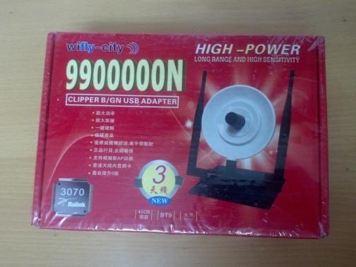 Adaptador Wifi USB 3W 3 ANTENAS DIRECCIONAL/OMNIDIRECCIONAL40 DBI (HASTA 12 KM)