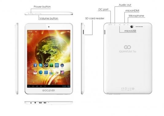 "Goclever QUANTUM 785 Dual Core16GB (Tablet DC 1GB RAM 7,85"" mHDMI)"