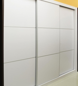 Puertas deslizantes paneles de melamina blanca