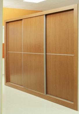 Puertas deslizantes paneles de melamina de cerezo