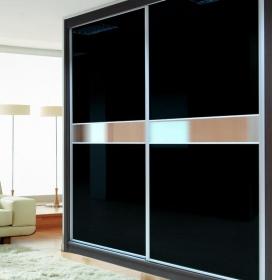 Puertas deslizantes paneles de cristal lacado brillo for Puertas japonesas deslizantes