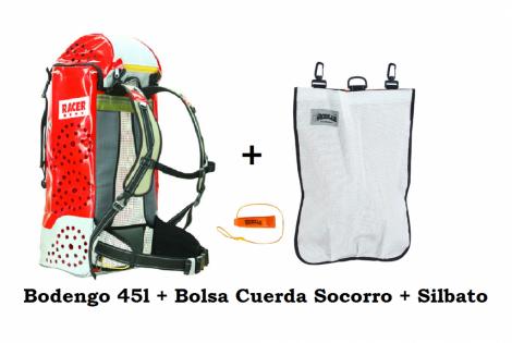 Bodengo 45L + Bolsa Socorro + Silbato