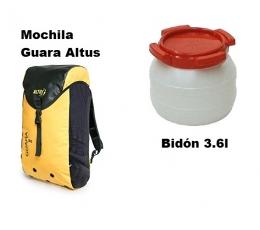 Mochila Guara + Bidón 3.6l