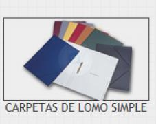 CARPETA LOMO SIMPLE VACIA G-8 ROJO