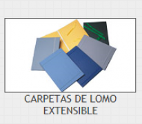 CARPETA LOMO EXTENSIBLE G-15 AZUL