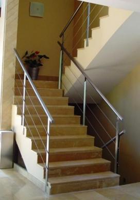 En acero inoxidable con cables tensores barandas de - Vallas para escaleras ...