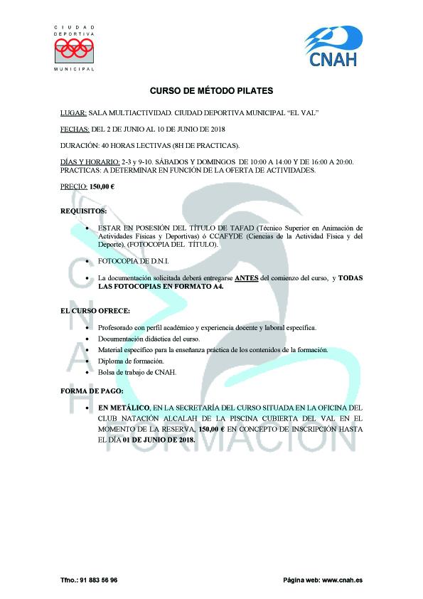 CURSO DE MÉTODO PILATES