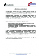 COMUNICADO DE PRENSA AYTO. DE ALCALA DE HENARES