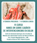 VI Curso Hands-on sobre Cadáver de Intervencionismo en Dolor