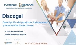 """I Congreso SEMDOR - Mesa Técnicas Intradiscales  - """"DISCOGEL - Descripción del producto, indicaciones y recomendaciones de uso"""""""