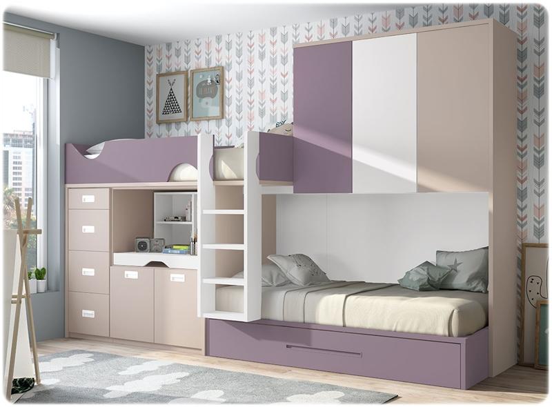 Dormitorio juvenil glicerio formas 19 muebles de la muela Dormitorio juvenil clasico