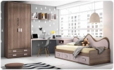 Dormitorio juvenil exojo up 18, muebles de la muela