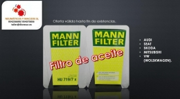 Filtro de aceite marca MAN
