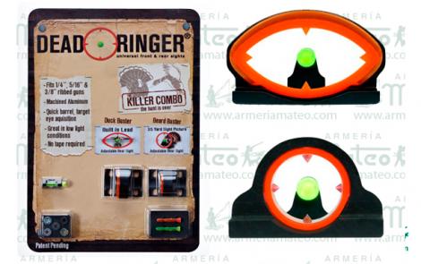 Sistema Alza-Punto de Mira Fibra Óptica Escopeta Killer Combo