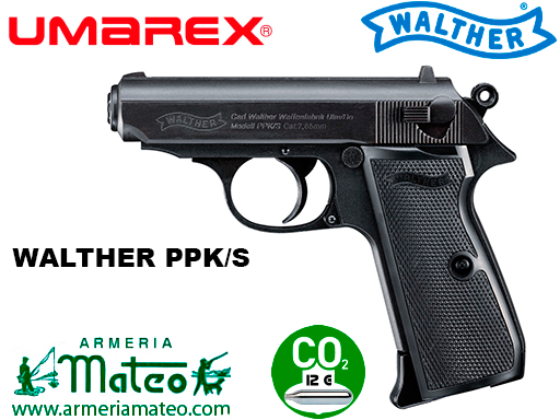 PISTOLA WALTHER PPK/S BLACK CO2