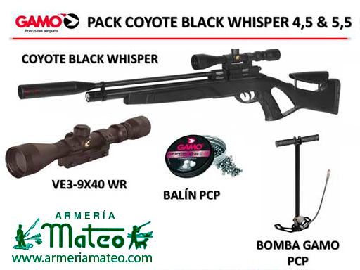 PACK COYOTE BLACK WHISPER