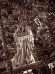 Aerial View of Empire State Building