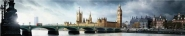 A view across Westminster Bridge to the house of...