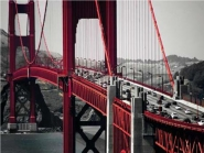 Cars Crossing the Golden Gate Bridge, San...