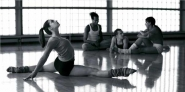 Ballet dancers at rehearsal