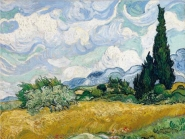 Vicent Van Gogh - Wheat Field with Cypresses