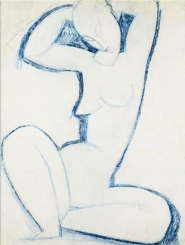 Amedeo Modigliani - Blue Caryatid II