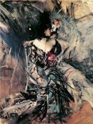 Giovanni Boldini - Ballerine spagnole al Moulin...