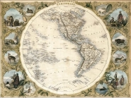 Map of the Western Hemisphere, 1850