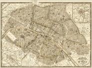 Plan of Paris and Environs, 1865