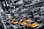 Tiimes Square,Cabs Queue, New York